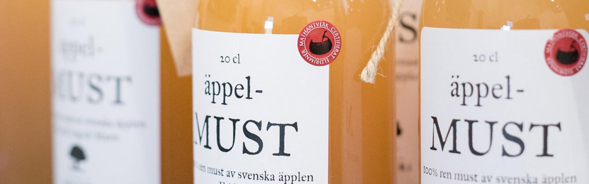 Norrtelje Musteri - Flaskor med must